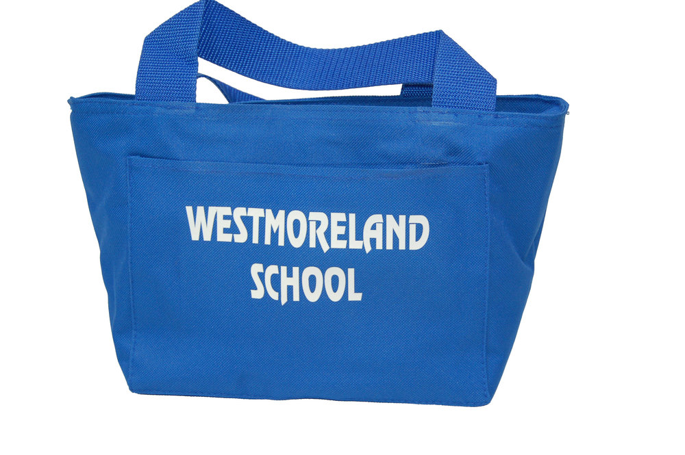 Westmoreland School insulated lunch bag.
