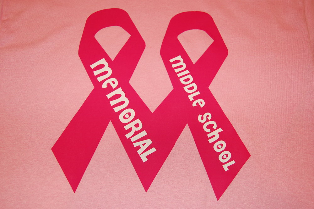 Memorial Middle School care ribbon T-Shirt