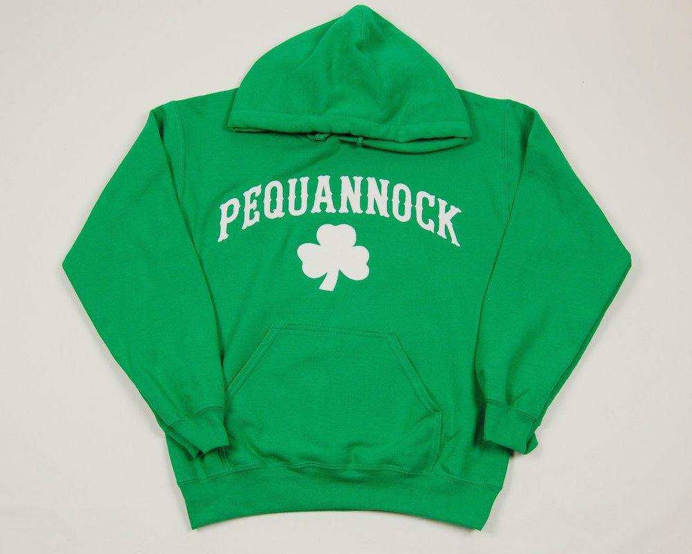 Pequannock green shamrock hoodie1.JPG