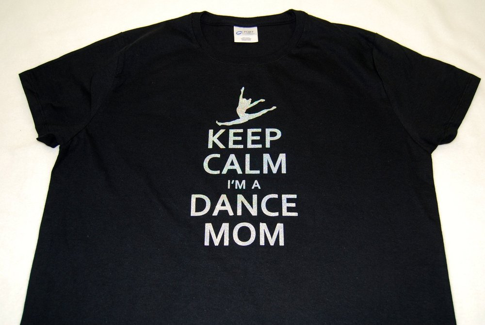 Keep Calm I'm A Dance Mom in silver glitter
