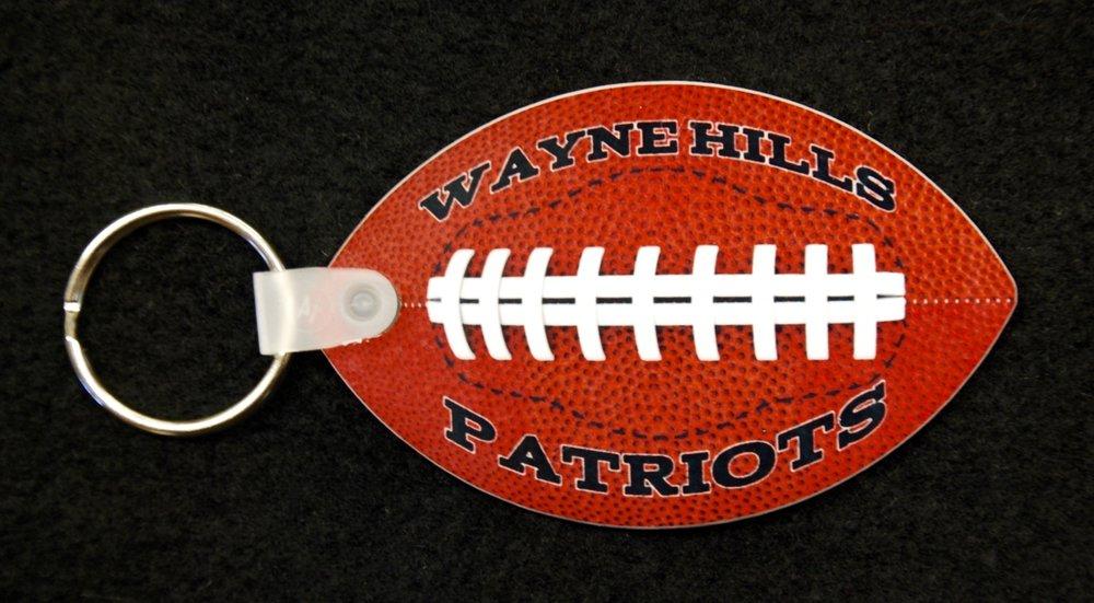 Wayne Hills Patriots Personalized Keychain