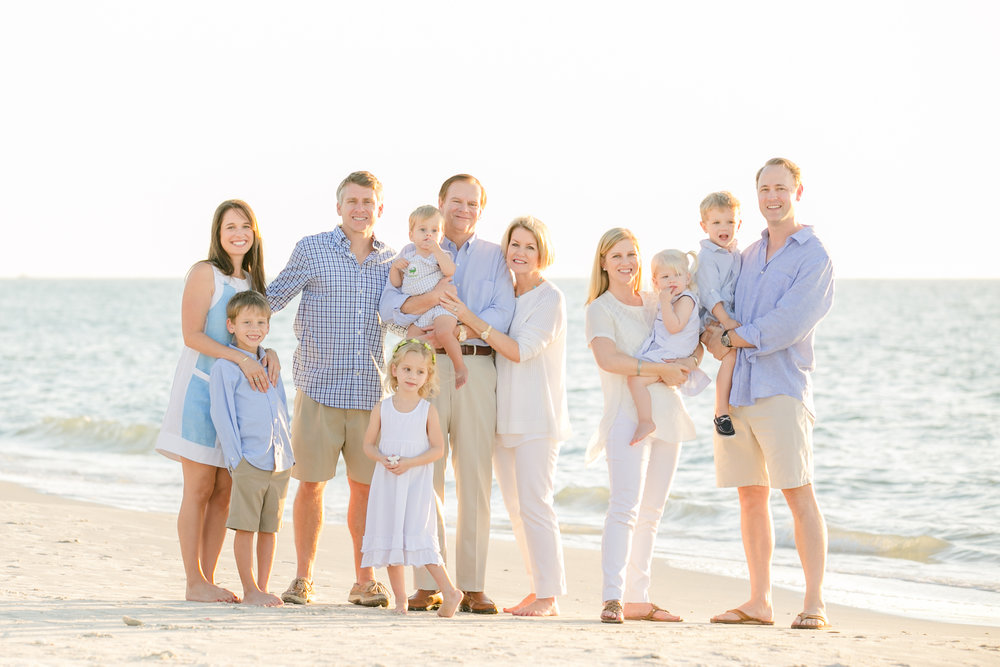 Johnson naples extended family beach session