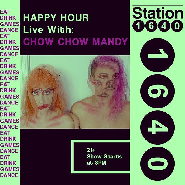 THIS FRIDAY we play @station1640 for a whole goddamn hour. Eat us, drink us, play with us, dance with us.