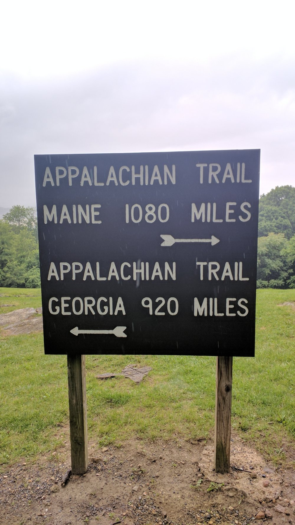 This sign could use an update.  It's only off by about 140 miles.