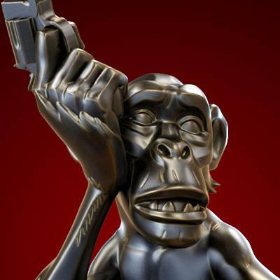 Mike Mignola Monkey with a Gun