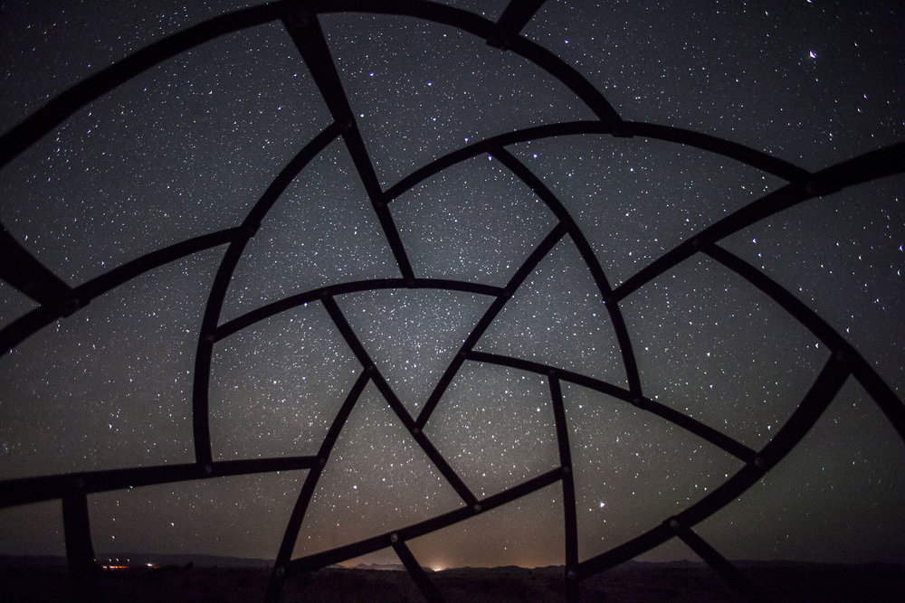 Because Arcosanti is located away from the cities of Phoenix and Flagstaff, it offers a great view of the night sky.