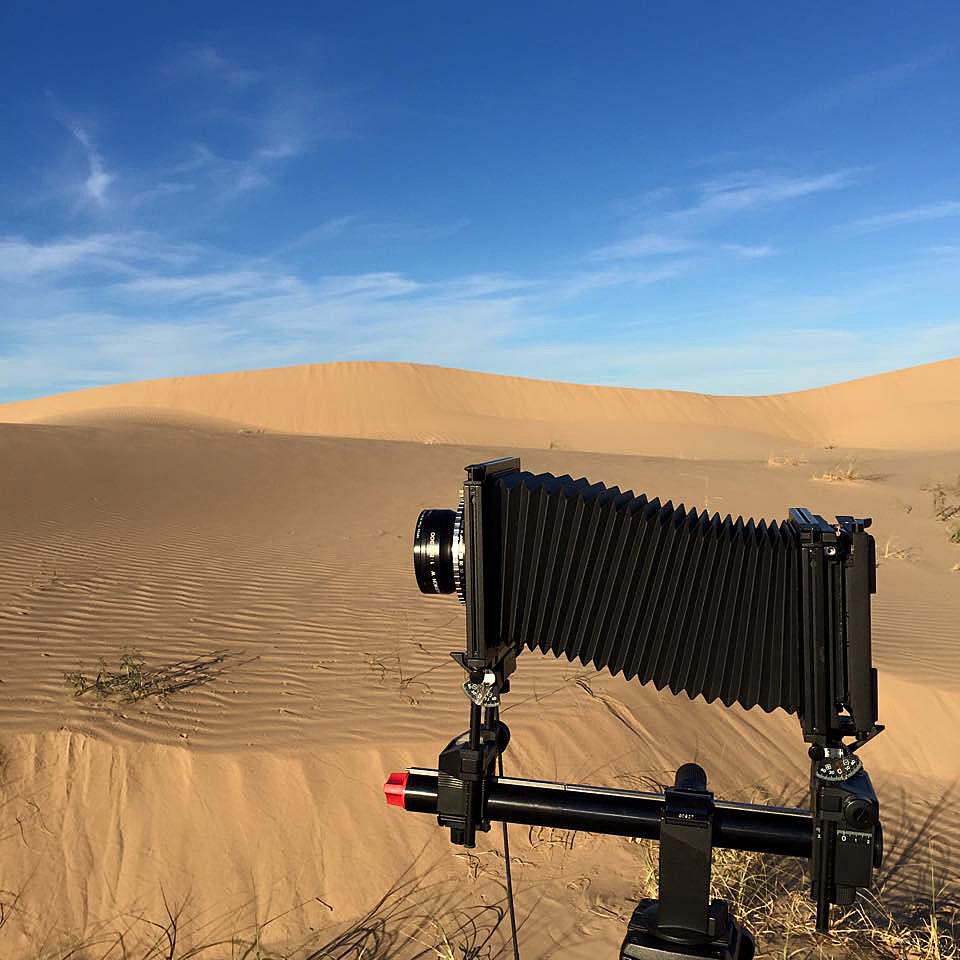 My Sinar F1large format 4x5 film camera.