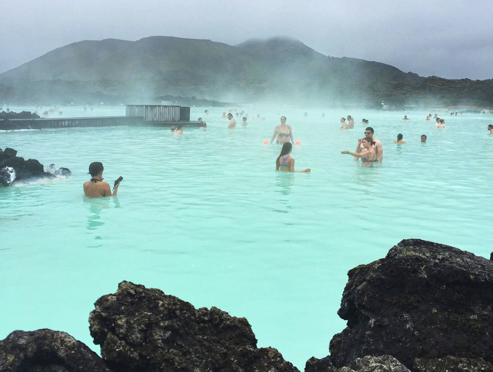 The Blue Lagoon  is a geo thermal spa located outside of Reykjavík, Iceland.