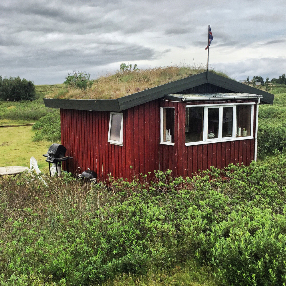 """The """"hobbit hut"""" is located not too far from Iceland's south coast."""