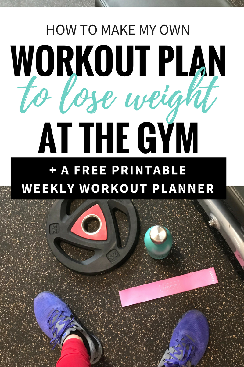How to make my own workout plan to lose weight at the gym