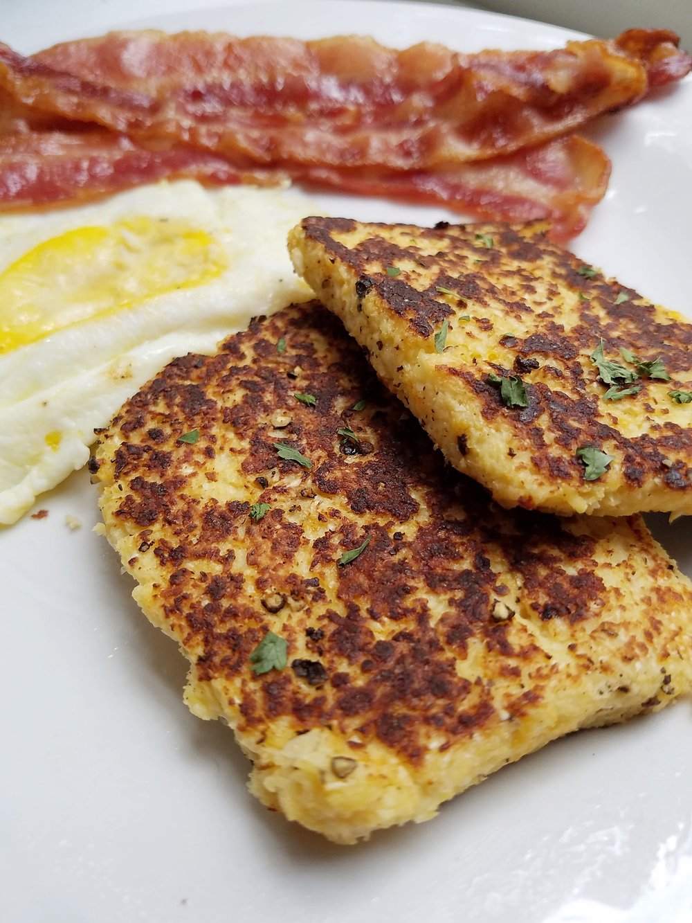 cauliflower hash browns keto recipe