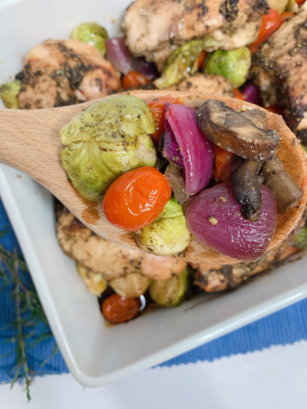 Easy Keto Friendly One-Pot Balsamic Chicken and Roasted Veggies