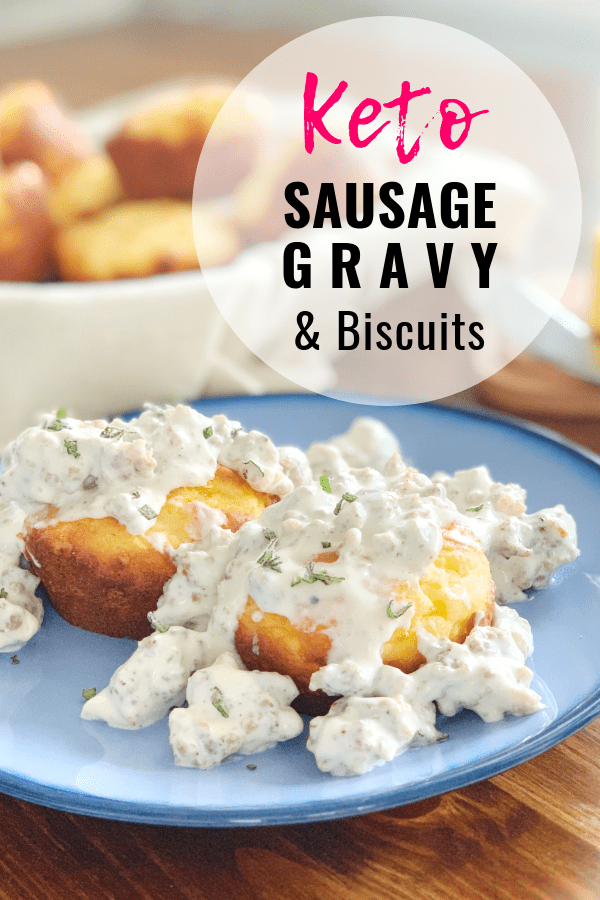 Keto Sausage Gravy and Biscuits Easy Recipe