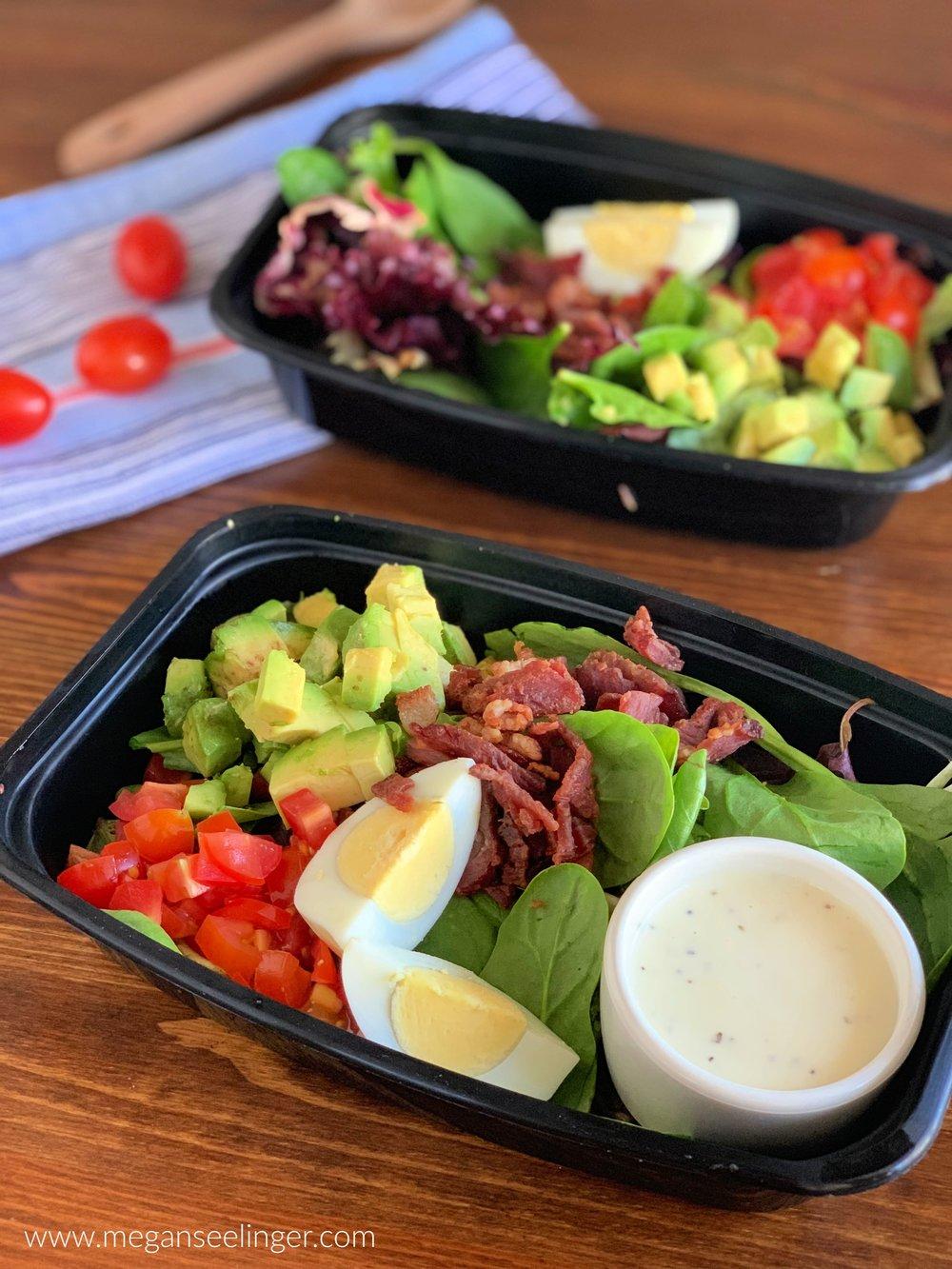Keto Cobb Salad Recipe - Easy Low Carb Lunch Idea