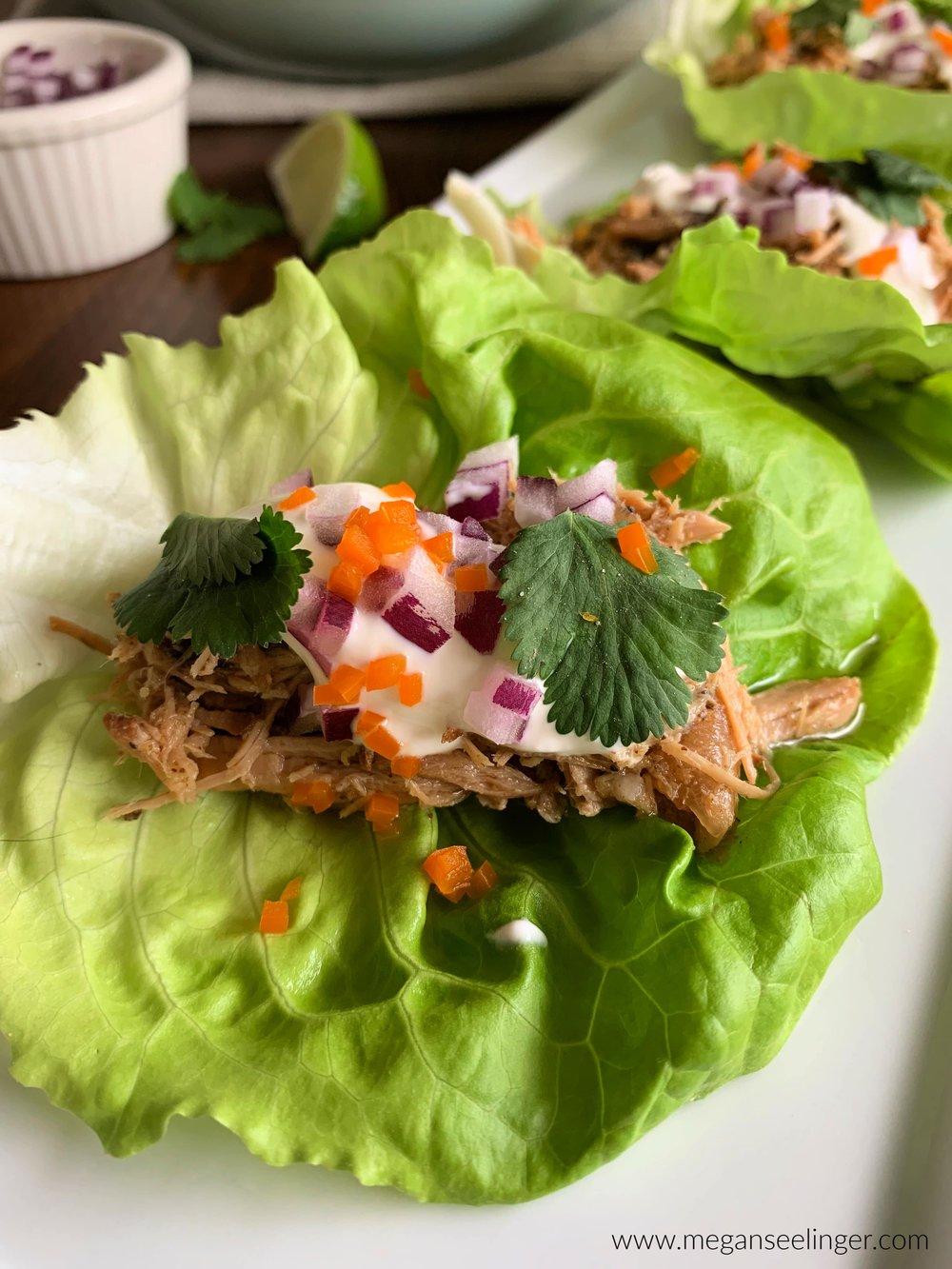Keto Carnitas Lettuce Wraps