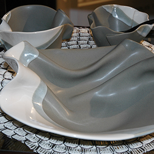POTTERY   Canadian made pottery by Hillborn Pottery Design. Original hand-built, hand-painted, ceramic designs of exceptional function and form.