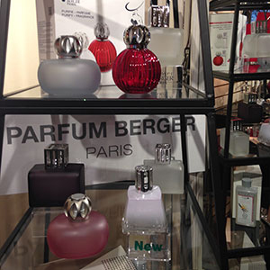 LAMPE BERGER   Lampe Berger is a revolutionary technology for purifying the air in enclosed rooms. Makes a wonderful lifetime gift.  Lamps Oils & Fragrances  For more information,   visit our LAMPE BERGER page.