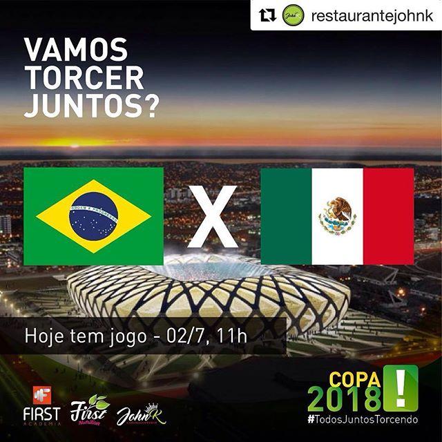 Se tem jogo da seleção brasileira, tem encontro marcado no @restaurantejohnk #TodosTorcendoJuntos #Repost @restaurantejohnk with @get_repost ・・・ Queremos todo mundo torcendo com a gente! 💪🏾💚😆💙🇧🇷💛 Aqui no @restaurantejohnk estaremos juntos assistindo o jogo da seleção brasileira! #esperamosporvoce
