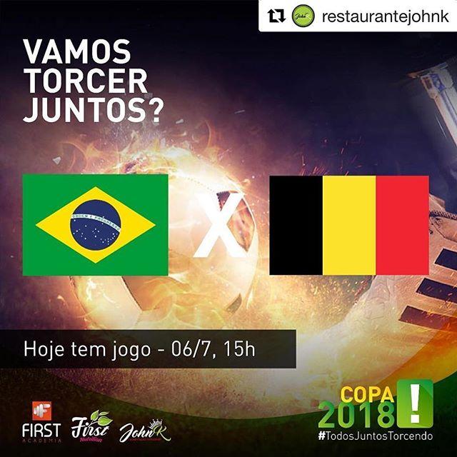 Vocês já sabem! A gente se encontra hoje, às 15h para assistir o jogo lá no @restaurantejohnk ! VaiBrasil #Repost @restaurantejohnk with @get_repost ・・・ Se tem jogo, tem encontro marcado aqui @restaurantejohnk ! #esperamosporvocê