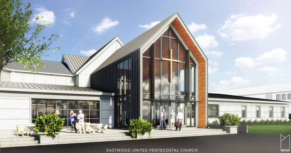 A new Grand Atrium, Bookstore, Daycare and Administrative offices highlight this new renovation and addition of an existing church damaged by fire.