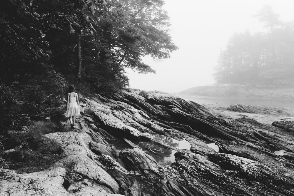 midcoast maine childhood lifestyle photographer black and white