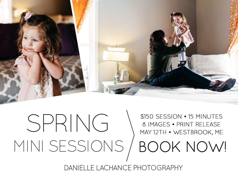 Maine Spring Mini Sessions | Westbrook, Maine Photographer