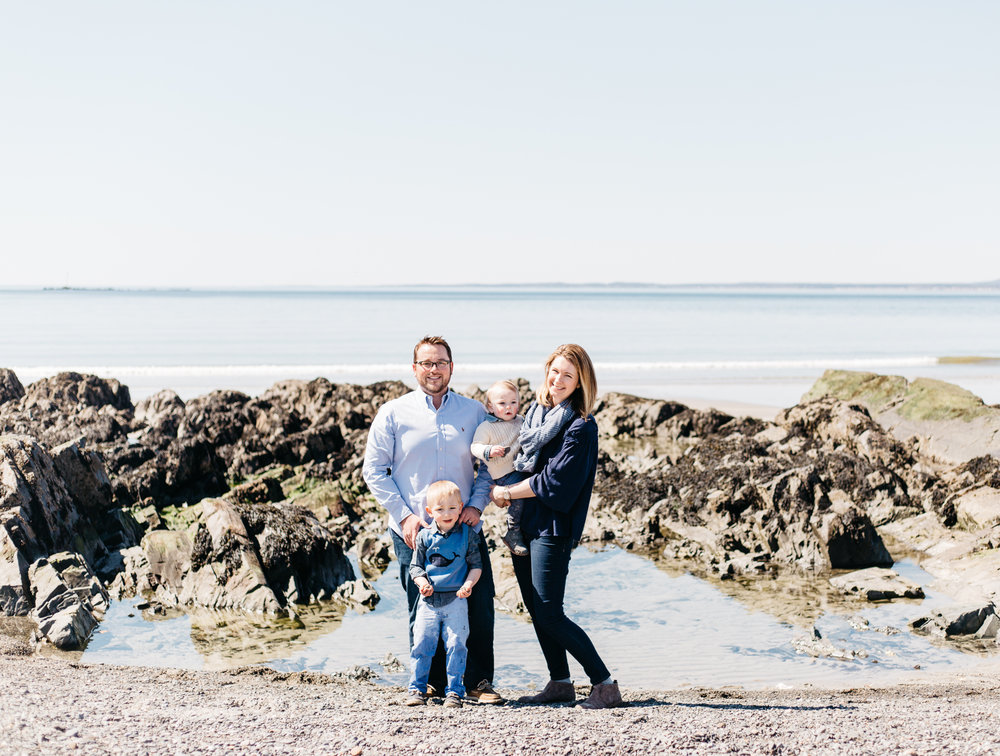 maine family lifestyle session at the beach rocky coast photography