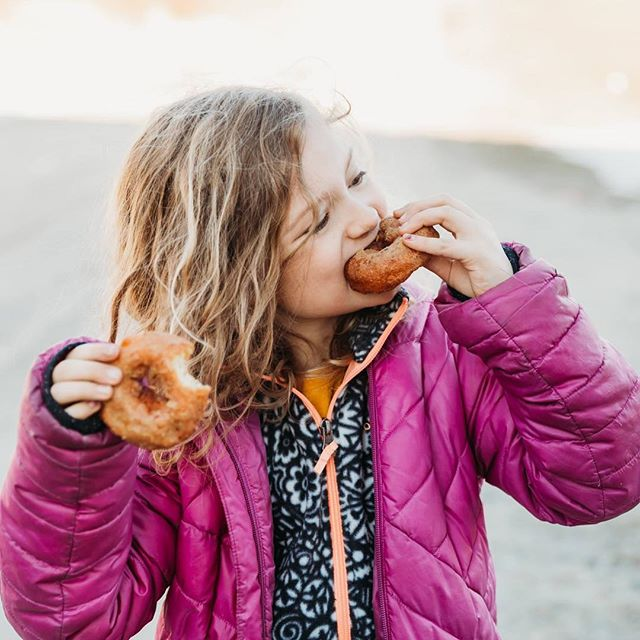 The stages of enjoying a fresh donut on maple syrup Sunday.