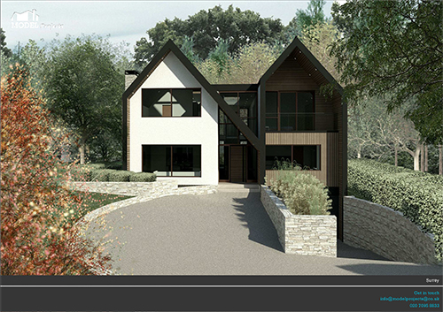 New build detached house esher