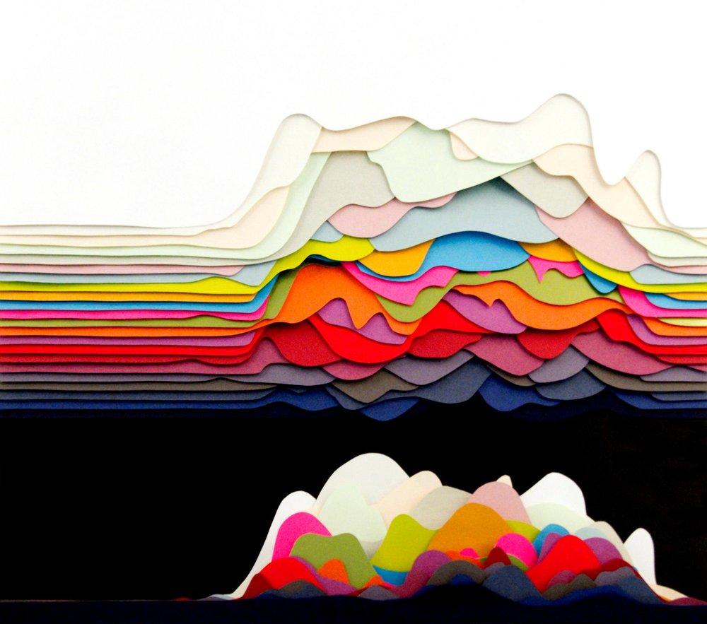 """Oscillations"" by Maud Vantours via http://maudvantours.com/3d-paper/oscillations/"