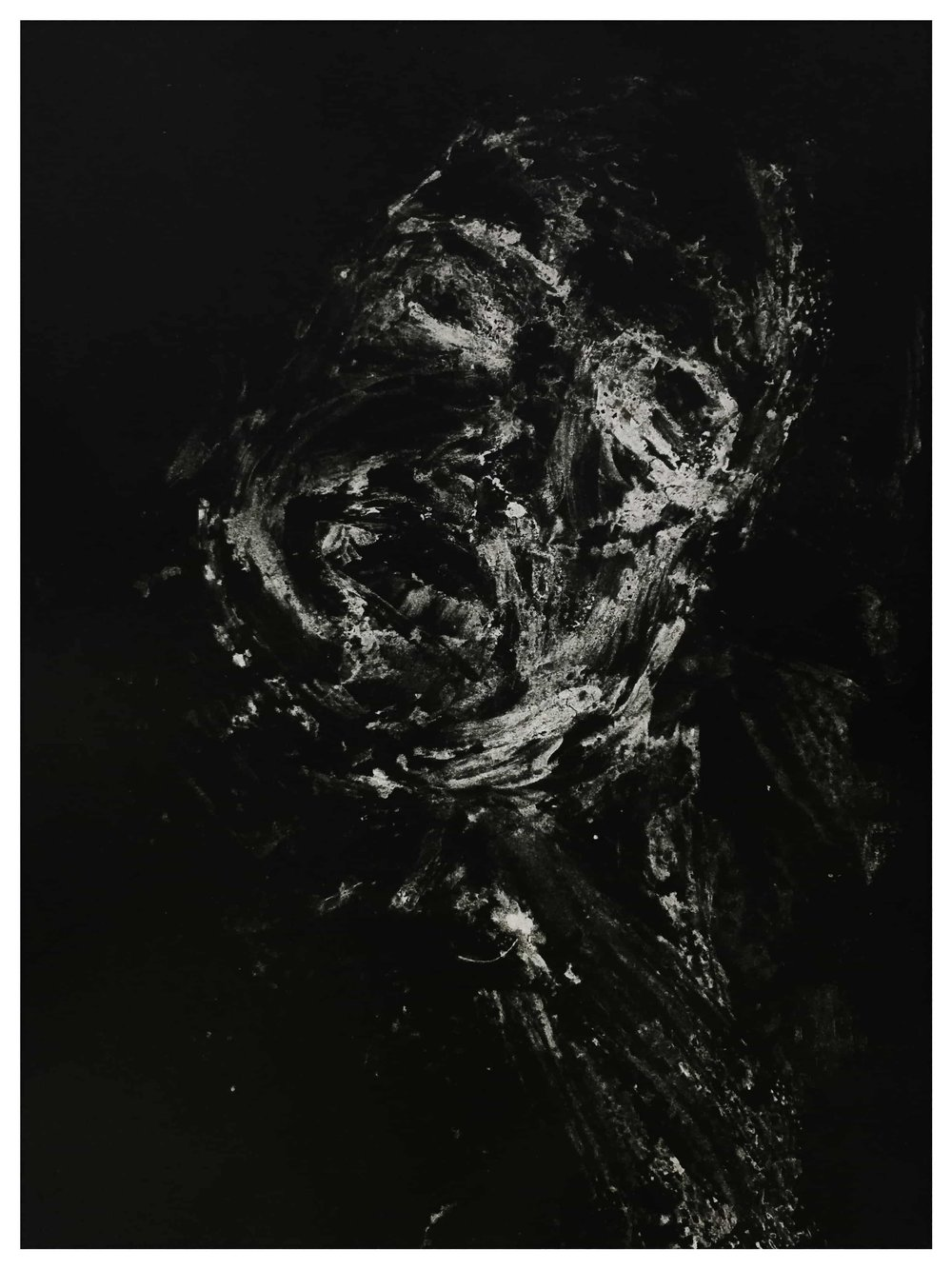 """Dissolved No. 3 ,   2015   Monotype print on copy paper  9""""x11"""" (Framed) 8.5""""x11""""(Image)  Inquire below"""