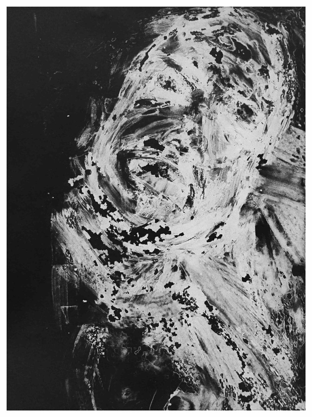 """Dissolved No. 6 , 2015   Monotype print on copy paper  9""""x11"""" (Framed) 8.5""""x11""""(Image)  Inquire below"""