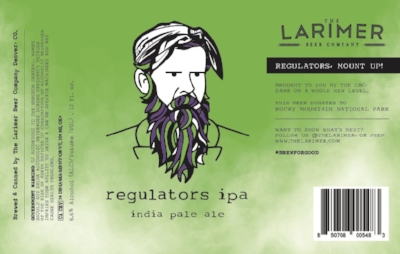 Regulators IPA   Mount up! Regulators is dripping with juicy aroma and flavor from Mosaic, Citra, & Amarillo hops. Raw oats, wheat, and lactose sugar give body to this low IBU,triple dry-hopped IPA.6.6% ABV  A percentage of sales form this beer benefit The Rocky Mountian National Park Service.