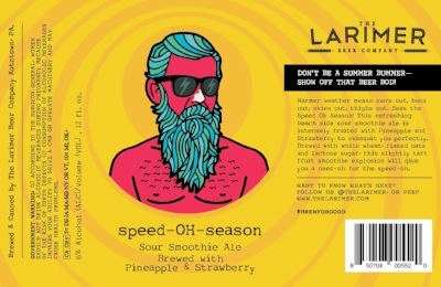 Speed-OH-Season Sour Smoothie Ale with Pineapple and Strawberry. 6.5% ABV