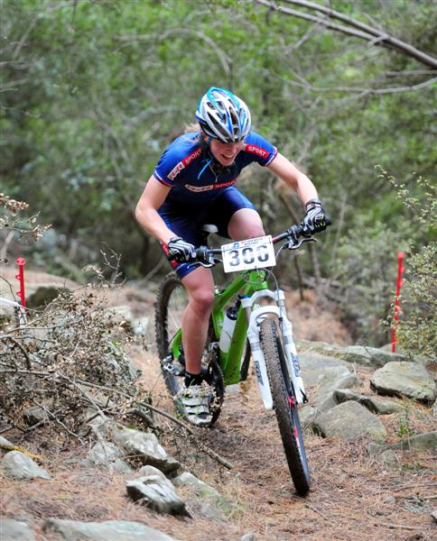 Mamoth Mountain biking race - AWAKEN sponsored each rider with one of our bars. Anja McDonald came in second in the women's open category!