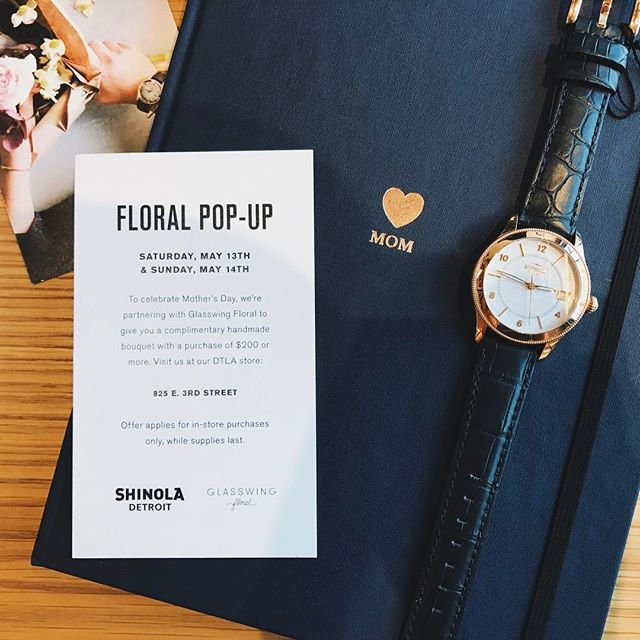 A happy Mother's Day guaranteed 💗 @shinola #shinola #artsdistrict #dtla #glasswingfloral #popup #flowershop #saturdayandsunday #happymothersday