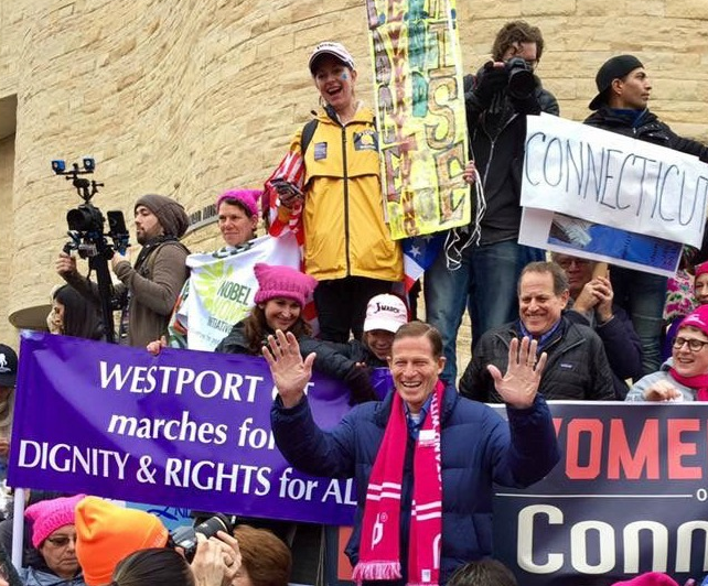 Westport representing at Women's March on DC, January 21, 2017