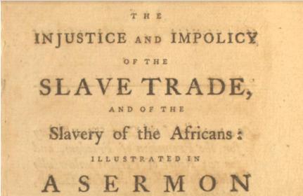 Anti-slave trade sermon in New Haven 1791