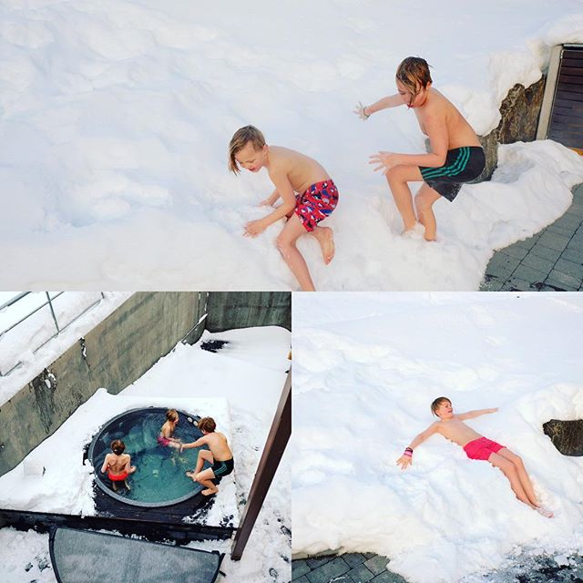Stuðboltar  #friendship #snow #cool #boyswillbeboys #hottub #iceland #bestplacetostay #photographer #jóhannguðbjargarson #holliday