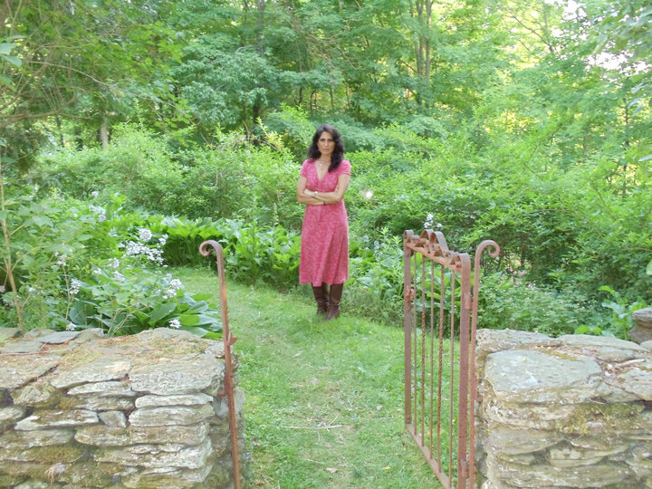 The Edna Project's Liz Queler is pictured at Steepletop, the Austerlitz, N.Y., home of Edna St. Vincent Millay.