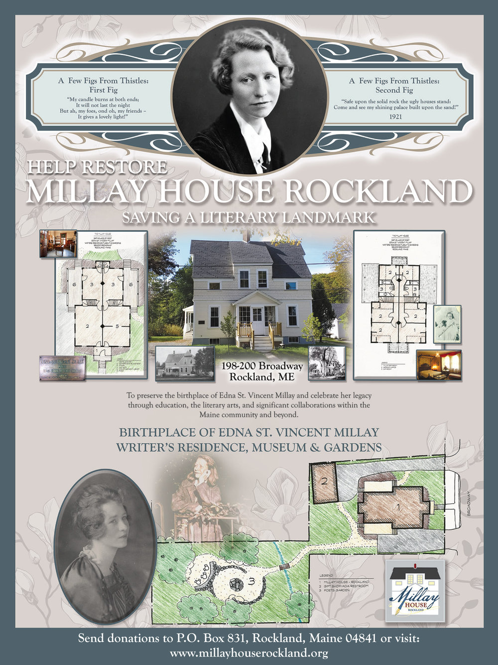 The Millay House Rockland is almost finished, ready for phase three, and needs your help! -