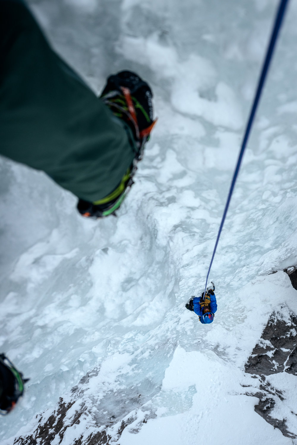 Chris catches a bird's eye view of Christian on Pitch 3.