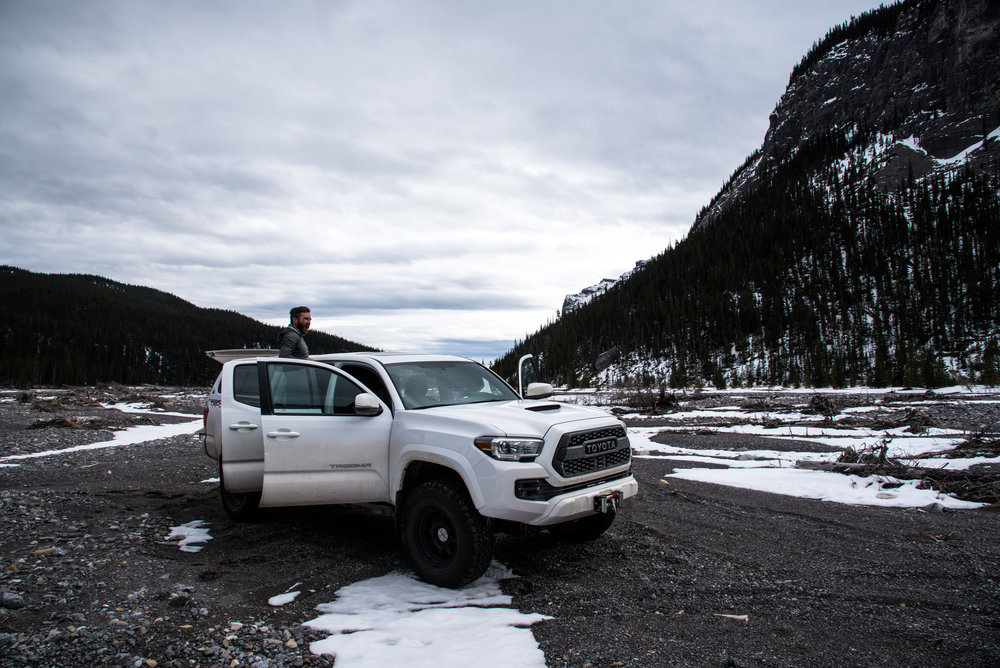 Paul's lifted Tacoma was prepared to handle anything that Ghost Canyon threw at it.