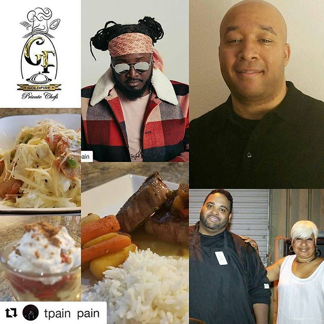 #Repost @tpain (@get_repost) ・・・ #Repost @mamapain with @get_repost ・・・ GOLDFIRE PRIVATE CHEFS LLC.  PRIVATE Chef placement at the NAJMS going on four months. We must be doing something right..YESSS.  Assisting you in reaching your goals, Chef Larry and Chef Rosa will do just that. Thank you Faheem @tpain for always believing and supporting your momma. Also thank you @amberghini1122 @jonnyshipes. And my GOLDFIRE TEAM. #celebrities #celebritychefs #privatechefs #goldfireprivatechefs #chefs #foodie #catering #tpain #2018 #foodnetwork #foodblogger #celebritymoms