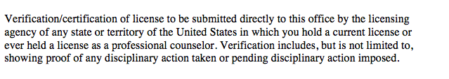 verificationoflicenseoutofstate