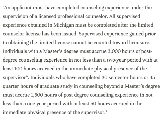 A Guide To Receiving A Lpc In Michigan Counseling Supervision For
