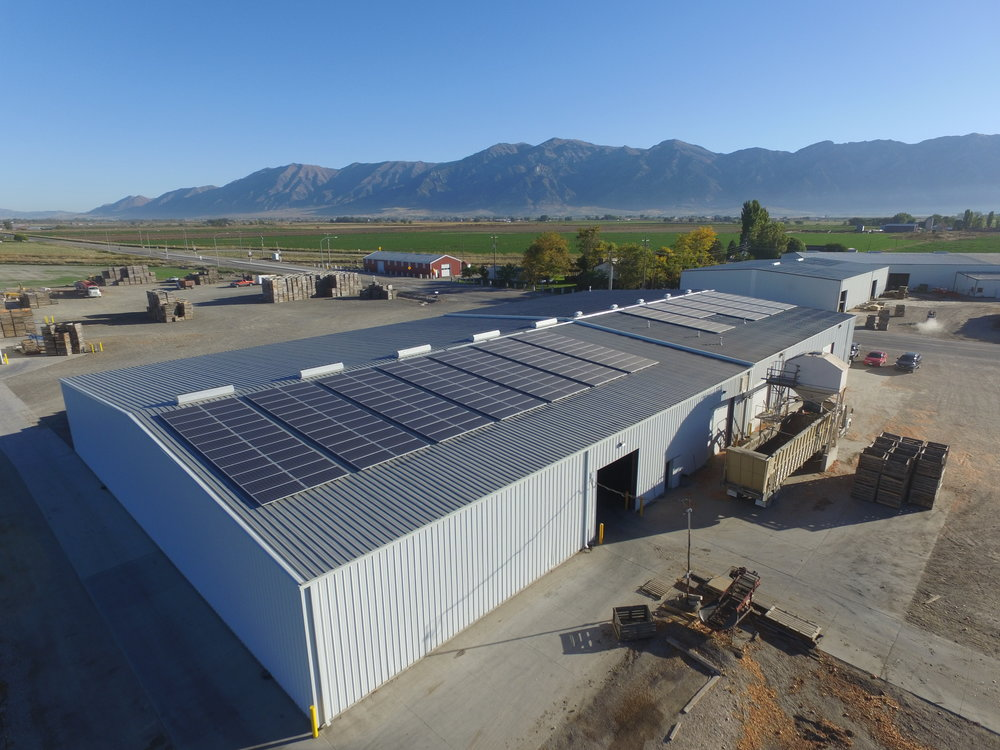 Utah Onions 272 panels installed 84kW generated per month $858 saved per month
