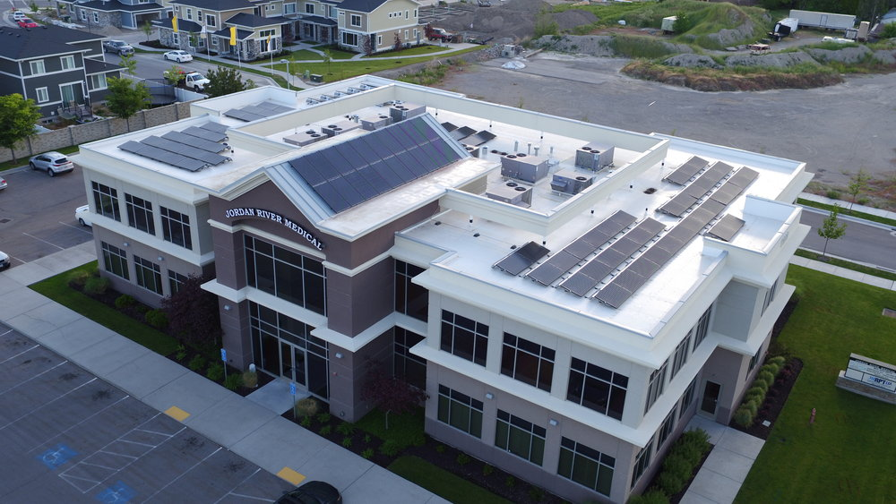 Jordan River Medical Center 107 panels installed 30kW generated per month $485.09 saved per month