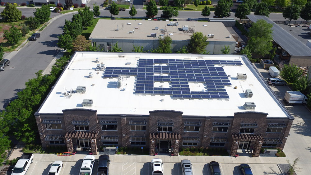 Wollam Construction   149 panels installed 47kW generated per month  $689 saved per month