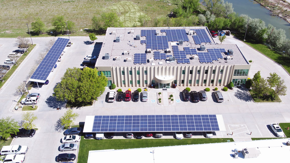 Draper Corporate Park 1532 panels 510kW generated per month $5920 saved per month